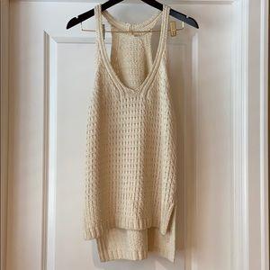 Cotton knit sweater tank